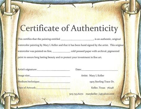 certificate of authenticity autograph template 22 images of certificate of authenticity template