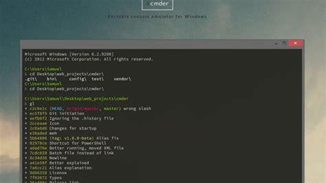console windows cmder portable console emulator for windows