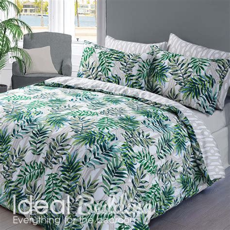 palm bedding green palm leaf duvet quilt bedding cover and pillowcase