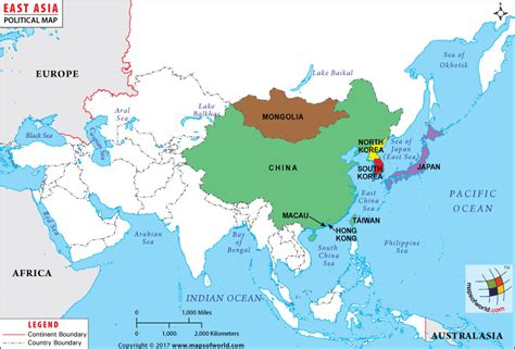 eastern world map east asia map map of east asian countries