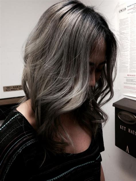 5 11 Brown Silver White formula the silver color melt career highlights hair color and