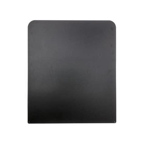 Vloerplaat Rvs Voor Kachel 600x700mm Zwart Gepoedercoate