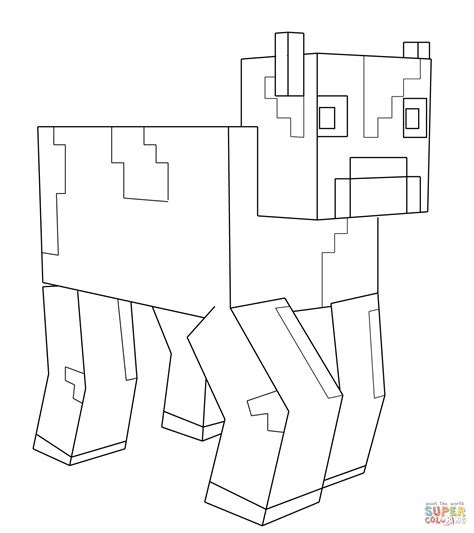 minecraft coloring pages cow minecraft cow coloring page free printable coloring pages