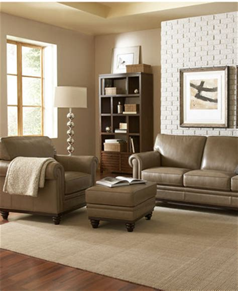 martha stewart living room martha stewart bradyn leather sofa living room furniture