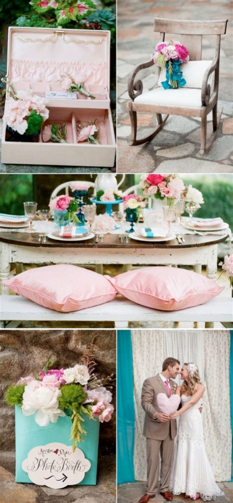 pink and turquoise wedding theme weddings by lilly