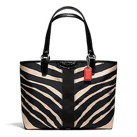 Bag Animal Zebra coach zebra fabric tote tradesy