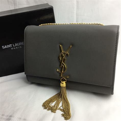 beautiful saint laurent ysl grey cross body bag  clutch