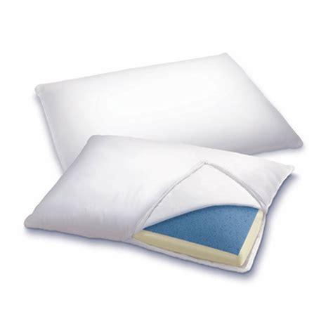 sleep innovations 2 in 1 pillow sleep innovations 2 in 1 gel memory foam reversible pillow