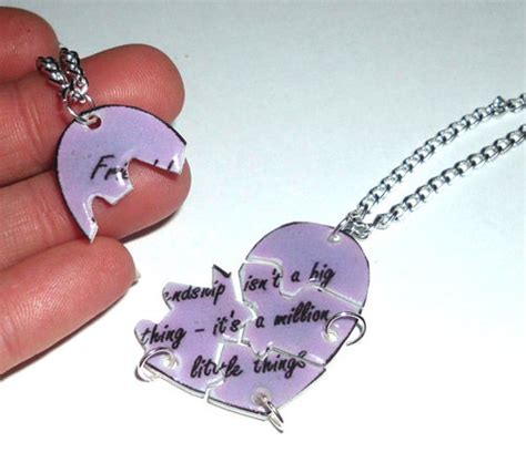 5 bff necklace puzzle friendship by