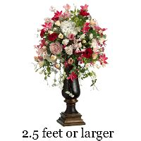 Peony Floral Arrangement by Silk Flower Arrangements Silk Floral Arrangements Silk