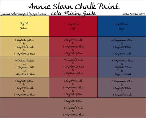 colorways sloan chalk paint custom color recipe mixing guide emperor s silk