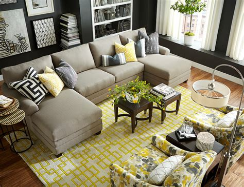 hgtv home decorating hgtv home design studio double chaise sectional by bassett furniture contemporary living