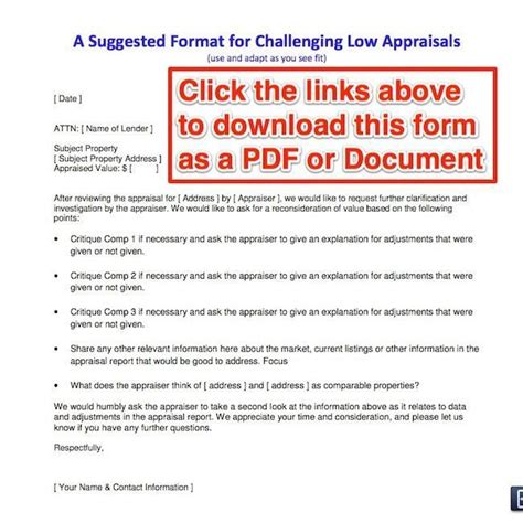 Appraisal Value Letter How To Challenge A Low Appraisal Advice From A Real Appraiser