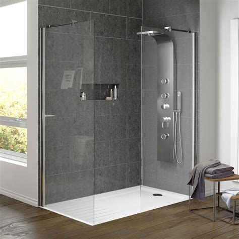 Bathroom Showers Uk Walk In Shower Enclosure With Side Panel Tray Now