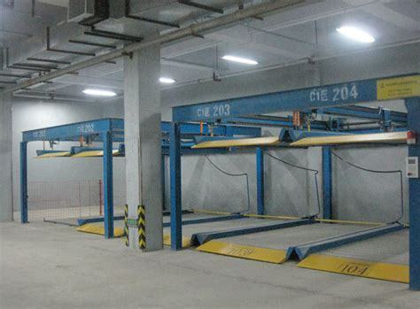 qdmy p2 residential pit garage parking car lift equipment