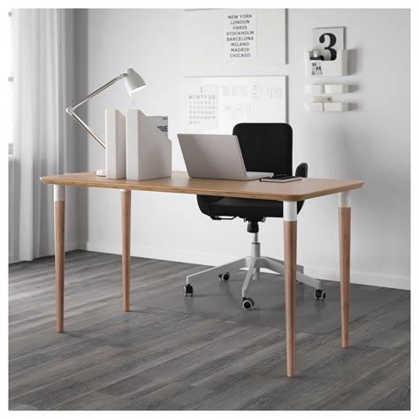 Computer Desk Ikea Canada by Hilver Table Bamboo 140 X 65 Cm Ikea