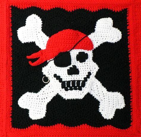 pattern for pirates free crochet pattern pirate throw yarn pinterest