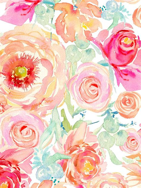 watercolor flower pattern wallpaper floral watercolor wallpaper google search cakes