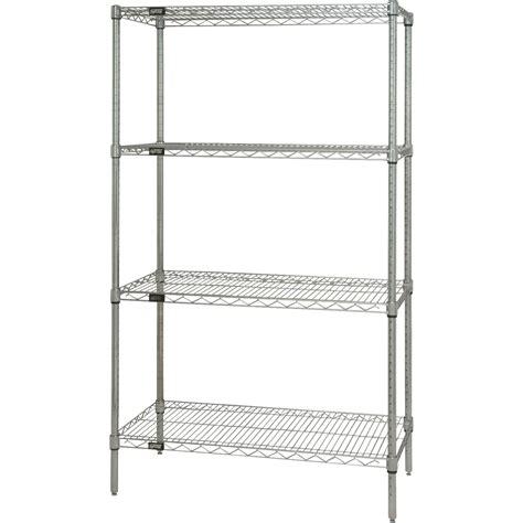 quantum 4 tier chrome wire shelf unit 36in w x 18in d x