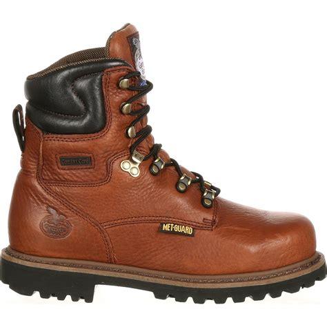 comfortable metatarsal boots georgia boot men s 8 quot internal met guard steel toe work