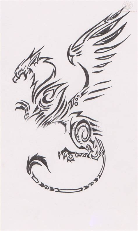 griffin tattoos tribal griffin design