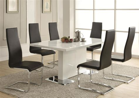Modern White Kitchen Table Sets Stylish Dining Table Sets For Dining Room 187 Inoutinterior