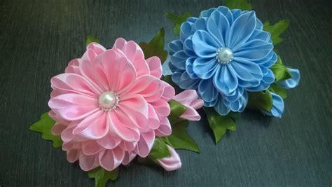 fiori in tessuto tutorial d i y satin kanzashi flower tutorial
