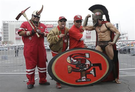 sf 49ers fan store 49ers fans tailgate before falcons game sfgate