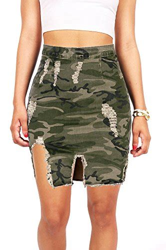 vibrant s juniors distressed camouflage denim pencil