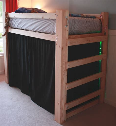 Bunk Bed Fort Curtains Loft Bed For Merri Furniture Ideas Pinterest Lofts Room And