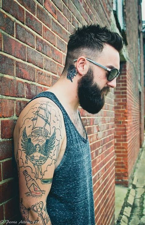 neck tattoo washing hair 196 best images about 176 beard hipster dudes 176 on pinterest