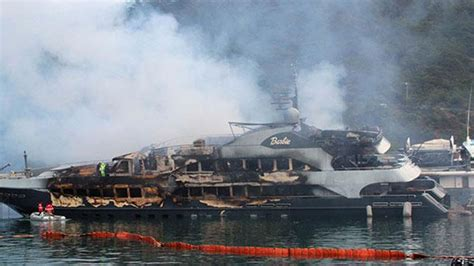 yacht fire luxury yachts gutted by fire at mediterranean resort in