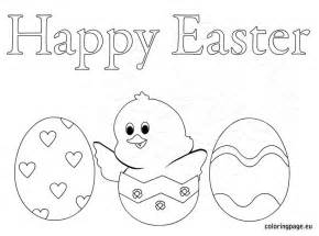 happy easter eggs coloring