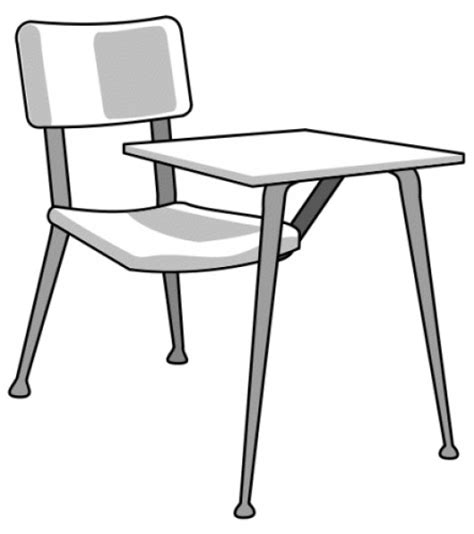 black and white desk at desk clipart black and white clipground
