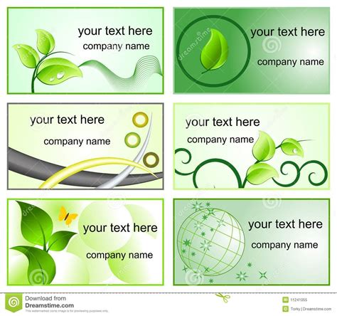 business card template with logo free ecology logos and business cards templates royalty free