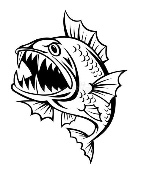 pesce clipart pesce arrabbiato illustrazione vettoriale illustrazione