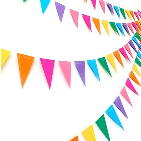 Hiasan Bendera Segitiga Triangle Paper Flags Birthday Hpa008 decorations supplies paper flags banners garland 4 meters colorful flags banners for