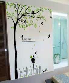 98 quot tall large tree wall decals mailbox birds vinyl home dandelion blowing in the wind wall decal contemporary