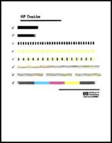print test page hp deskjet 930c series printer printing a test page hp