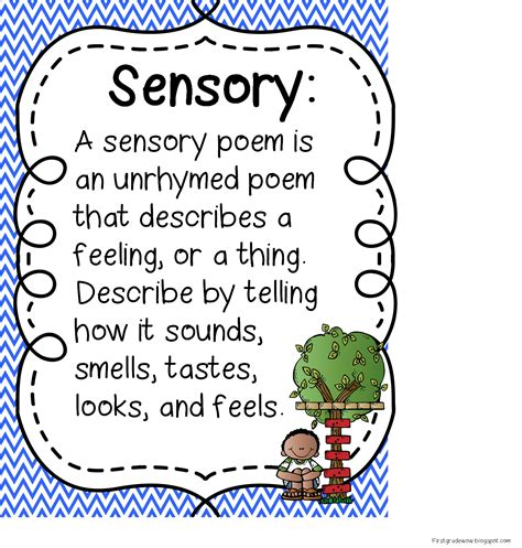 sensory poem template grade wow poetry unit updated