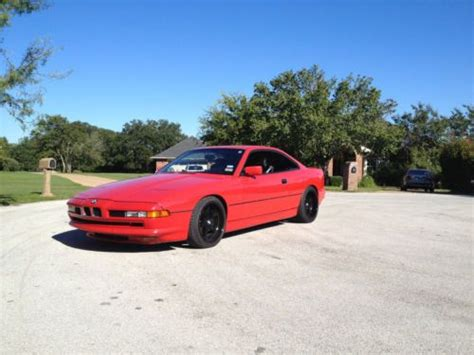 buy used 1991 bmw 850i 8 series red in pflugerville texas united states