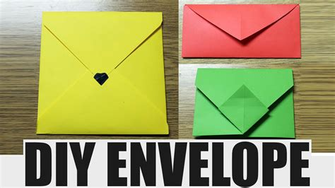 how to make envelope with paper how to make an envelope diy paper envelope youtube