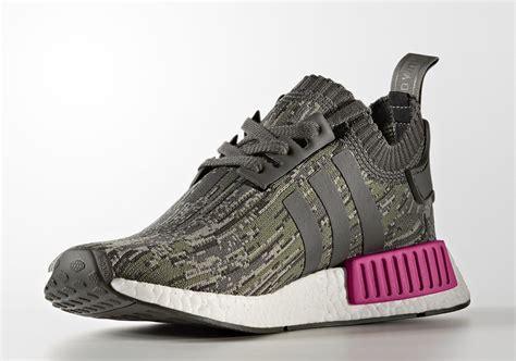 Sepatu Adidas Nmd R1 Womens Grey Pink Premium Quality adidas nmd r1 primeknit utility grey camo release date