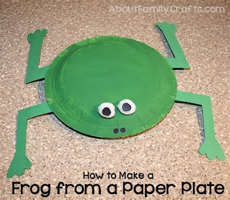 How To Make A Frog Out Of Paper - how to make a frog from paper plates about family crafts
