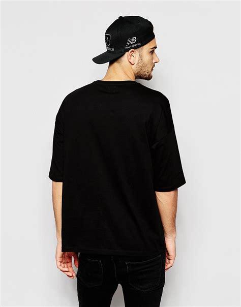 Asos Oversized T Shirt lyst asos oversized t shirt in black for