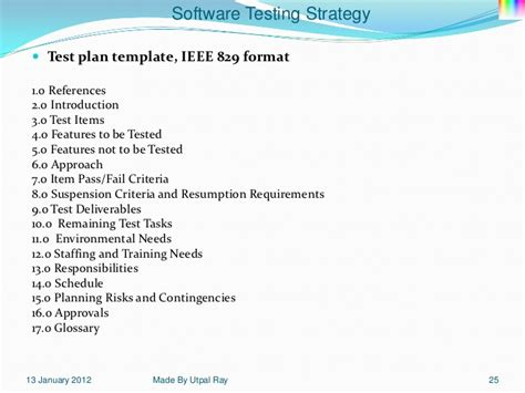 ieee 829 test plan template 11 software testing strategy