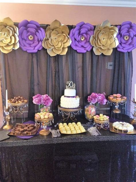 Gold, Purple and Black Birthday Party Ideas   Photo 7 of