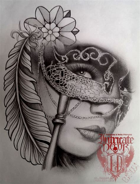 lady face tattoo designs best 20 ideas on