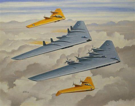 northrop flying wings top to bottom n9mb b49 b35