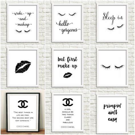 coco chanel quote printable diy home decor free 8 5 23 diy makeup room ideas organizer storage and